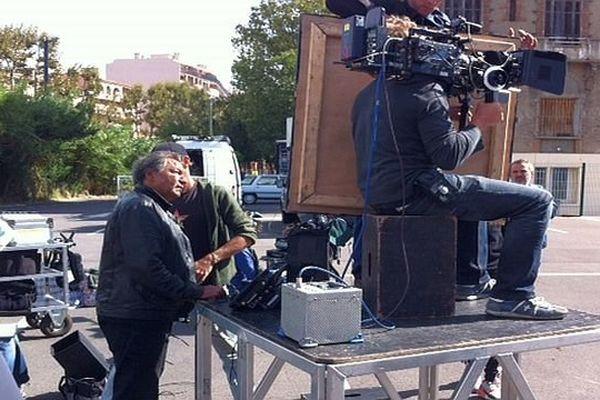 Perpignan - sur le tournage de Geronimo de Tony Gatlif - 17 septembre 2013.