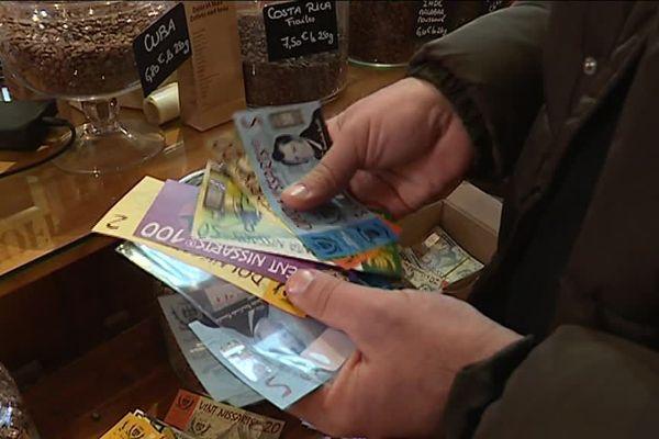 Le nissart, monnaie locale mise en service à Nice le 13 décembre 2017.