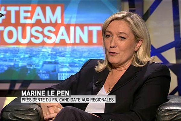 Marine Le Pen, sur Itélé ce mardi matin.