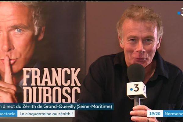 Franck Dubosc donnait son spectacle Fifty Fifty à Rouen mercredi 16 janvier 2019.
