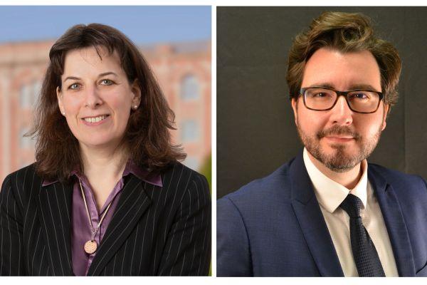 Estelle Bomberger-Rivot et Richard Journet, tous deux candidats DVD aux élections municipales et communautaires à Nogent-sur-Seine.