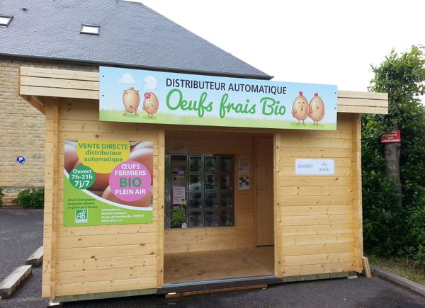 Des œufs frais et bio dans un distributeur en plein cœur de la commune d'Evrecy