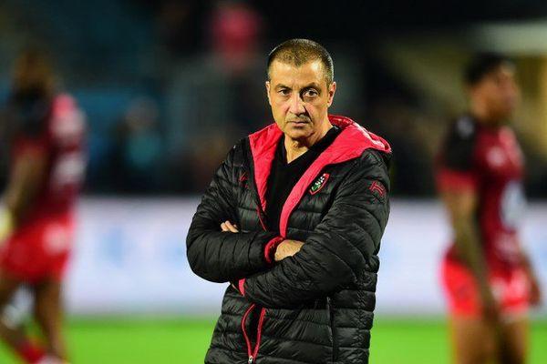 Mourad Boudjellal lors d'une rencontre entre Toulon et Agen.