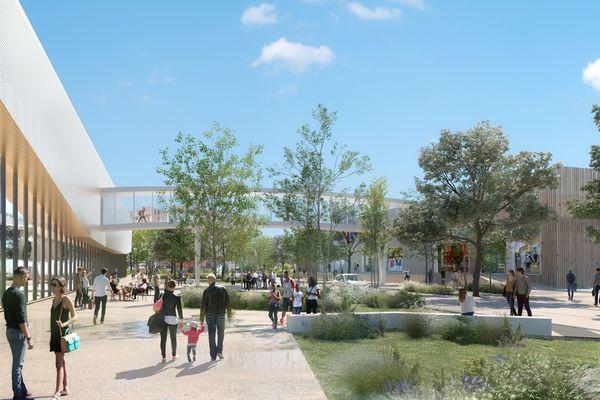Le futur Grand'Place, sans l'autopont.