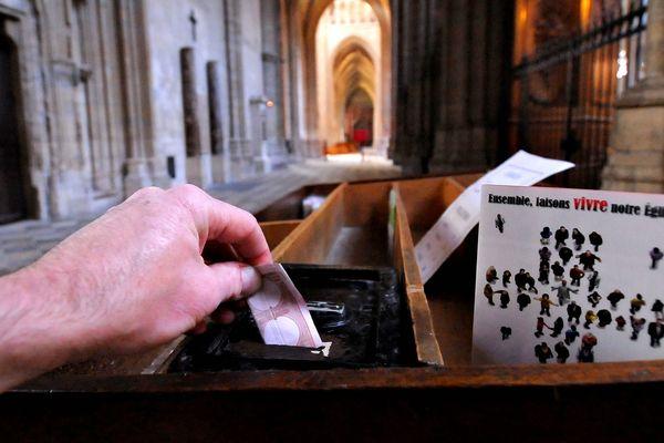 Le Denier représente la première ressource de l'Eglise catholique en France.