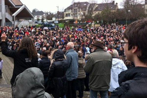 Le rassemblement à Auray (56)