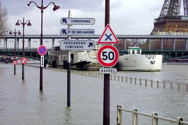 La Seine en crue en 2001 (photo d'illustration)