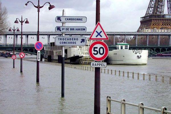 La Seine en crue en 2001 (photo d'illustration)
