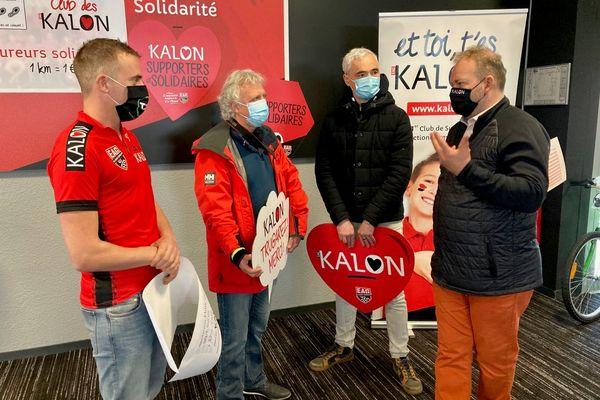 """156 coureurs ont participé à l'opération KALON """"supporters et solidaires""""."""