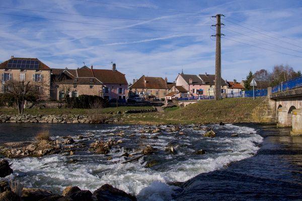 La rivière la Lanterne à Conflans-sur-Lanterne en Haute-Saône