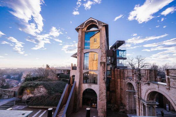 Le château de Rivoli près de Turin. Son troisième étage accueillera au sein même des oeuvres contemporaines les candidats à la vaccination