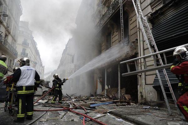 Deux pompiers sont décédés lors de l'intervention rue de Trévise, le 12 janvier 2019.