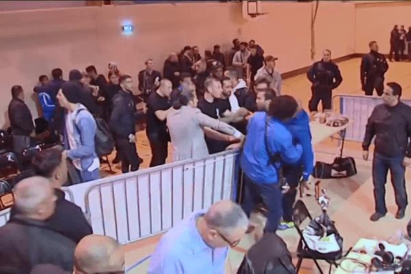 Bagarre générale lors du match de championnat de France, ce samedi, à Rillieux-la-Pape