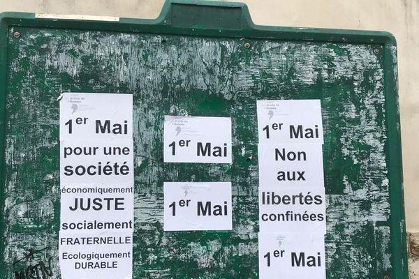 Montpellier - revendications du 1er mai - 1er mai 2020.