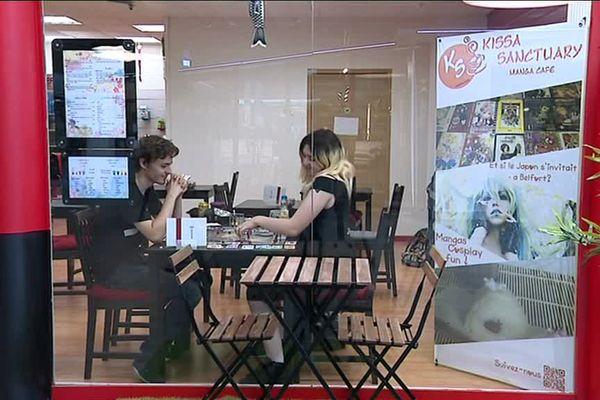 Kissa Sanctuary - Manga café est situé dans la Galerie des 4 As à Belfort.