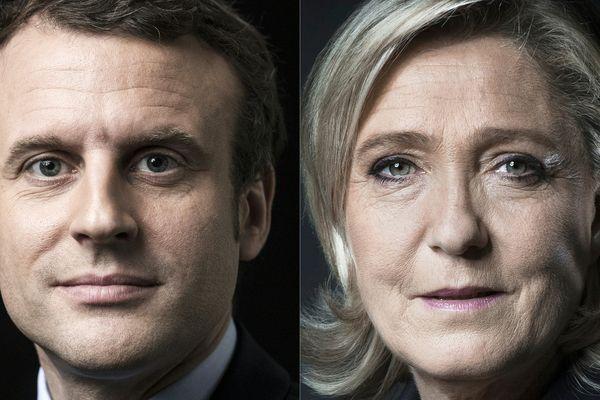 Les deux finalistes de la présidentielle 2017, Emmanuel Macron et Marine Le Pen
