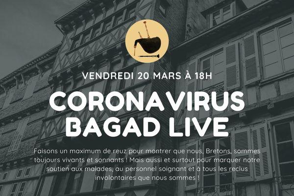 Les sonneuses et sonneurs de Bretagne sont appelés à jouer ensemble ce soir depuis chez eux en soutien aux malades du Covid-19 et aux soignants.