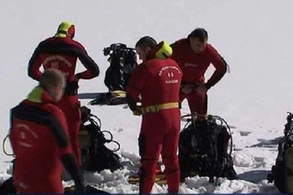Des conditions de plongée extrêmes pour les sapeurs pompiers en stage.