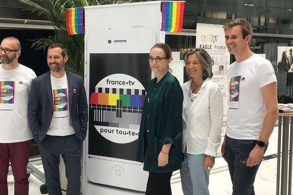 """""""France.TV pour tout.te.s"""", l'association LGBT+ et Allié.e.s lancée par 4 salariés du groupe audiovisuel public avec Delphine Ernotte-Cunci."""