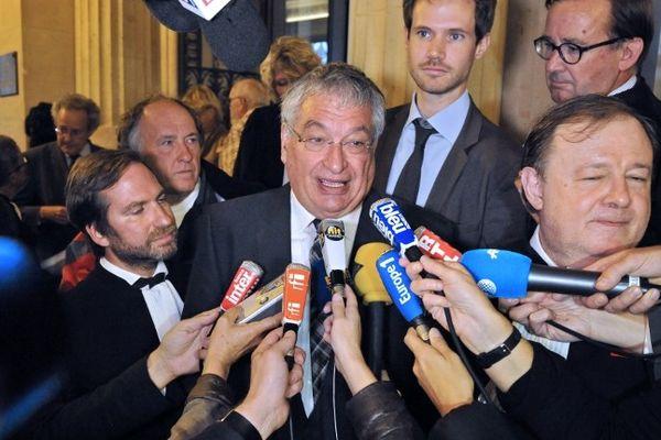 Jacques Auxiette, le président du Conseil Régional des Pays de la Loire, après la décision de la Cour de cassation, le 25 septembre 2012