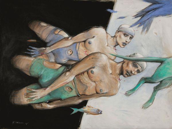 Cette peinture d'Enki Bilal, présentée à la Biennale de Vienne en 2015, sera visible elle aussi à Landerneau