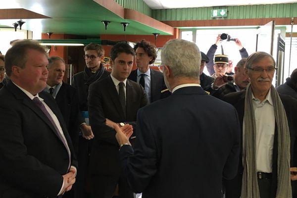 Gabriel Attal, secrétaire d'État auprès du ministre de l'Éducation nationale et de la Jeunesse est en visite en Creuse.