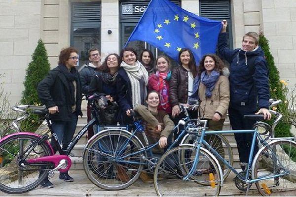 Les 10 étudiants de Sciences Po porteurs du projet Bicycl'est