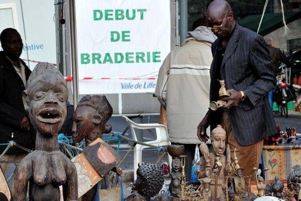 Le lancement de la Braderie de Lille a lieu traditionnellement après le semi-marathon du samedi matin. Ici, en 2012