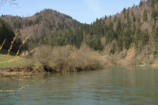 La réserve de Clairbief au bord du Doubs Franco-Suisse