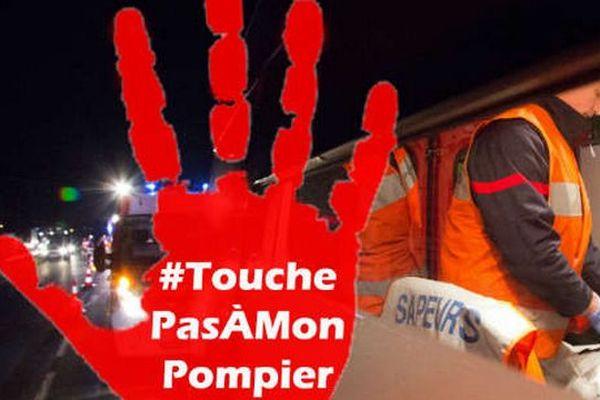 """La fédération nationale des sapeurs-pompiers de France vient de lancer une campagne de sensibilisation en lançons le le hashtag """"Touche pas à mon pompier""""."""