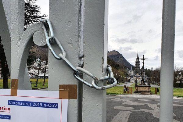 Le sanctuaire de Lourdes, mardi 17 mars 2020.