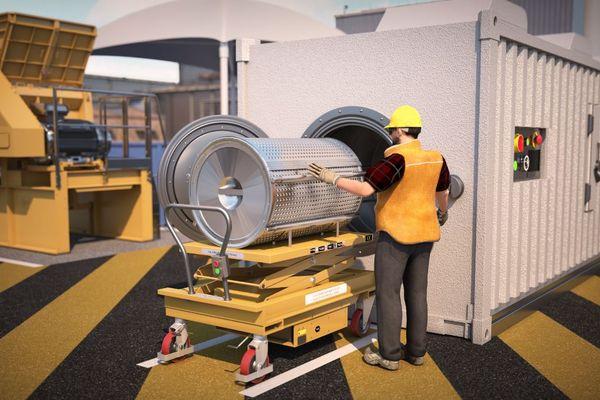 """La start-up Polyloop, dont le siège est basé à Roman sur Isère, va bientôt rejoindre la """"vallée de la chimie"""" près de Lyon. Son procédé permet aux entreprises de recycler sur place, dans un conteneur, les déchets et d'en récupérer le PVC et les autres matières premières séparément"""