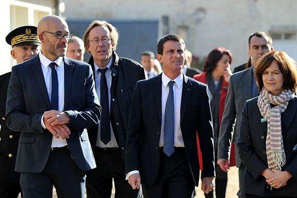 Manuel Valls en visite au centre de prévention, d'insertion et de citoyenneté de Pontourny en Indre-et-Loire