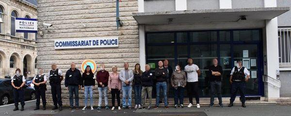 Manifestation des policiers à Rochefort