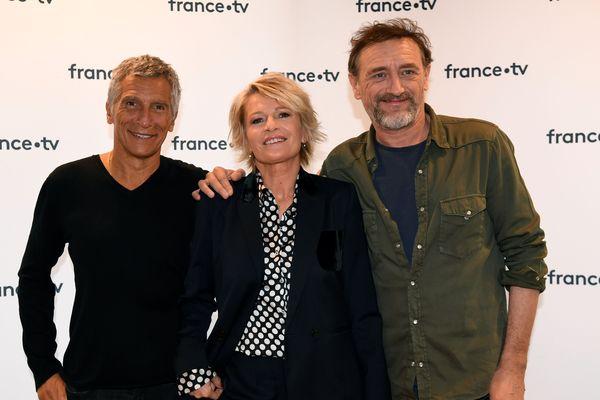 Nagui, Sophie Davant et Jean-Paul Rouve, animateurs du Téléthon 2019
