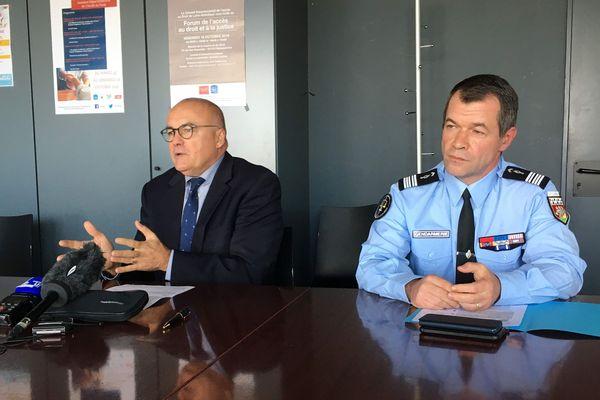 Conférence de presse du procureur de la république Pierre Sennès