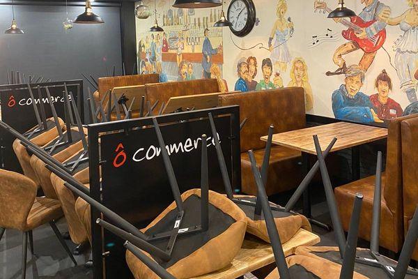 A Saint-Lô, la salle du restaurant Ô Commerce venait d'être entièrement rénovée quand les mesures de confinement sont entrées en vigueur.