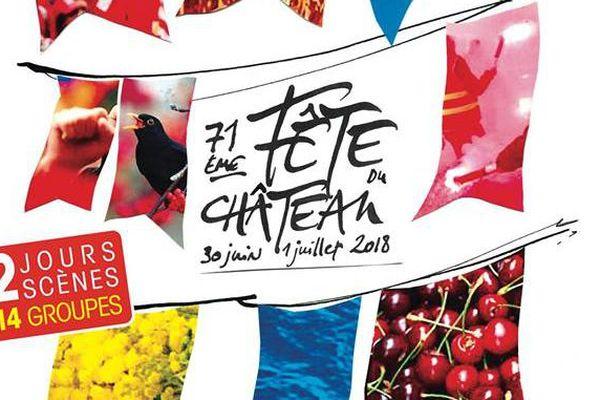 L'affiche de la Fête du Château 2018.