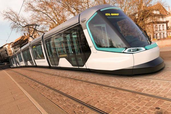 Le nouveau tramway strasbourgeois : un relooking du modèle de 1994.