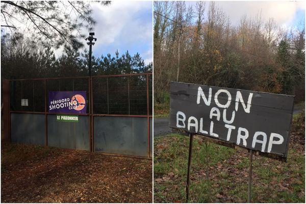 """À Servanches, dans le Périgord, la création d'un ball-trap, le """"Périgord Shooting Club"""", fait polémique depuis 2016."""