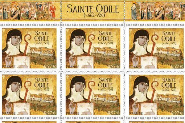 Deux associations locales se sont battues bec et ongle pour que ce timbre commémoratif soit édité à l'occasion des 1.300 ans de la date anniversaire de la mort de Sainte Odile.