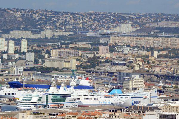 Vue générale des quartiers Nord de Marseille.