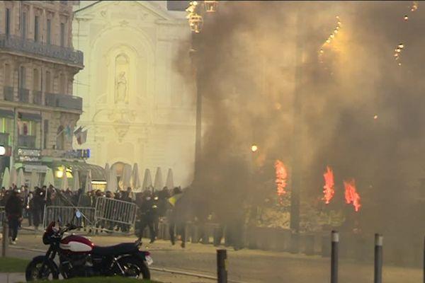 Lors des affrontements avec les forces de l'ordre, samedi 1er décembre