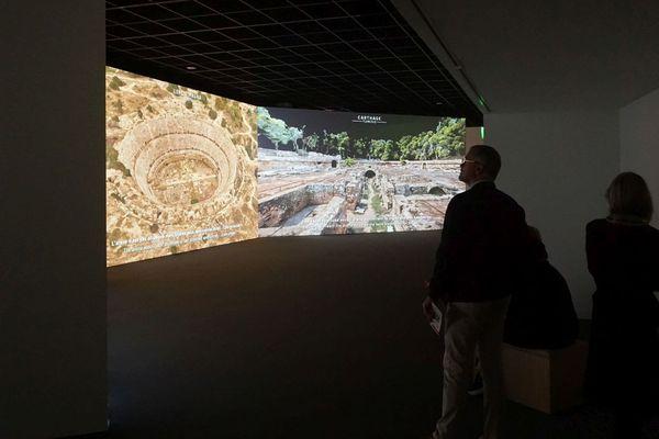L'exposition Bâtir un empire au Musée de la romanité de Nîmes permet au public de découvrir des sites romains en 3D.