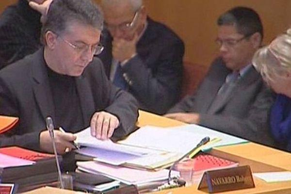 Robert Navarro au conseil régional du Languedoc-Roussillon - 2014.