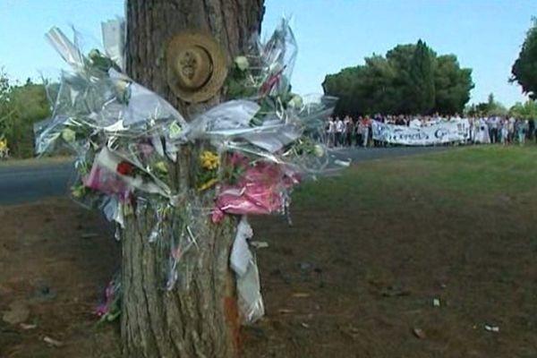 Le lieu de l'accident qui a coûté la vie à cinq jeunes d'Agde
