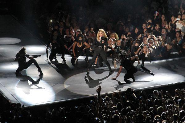 Madonna en concert au Palais Nikaïa en 2008.