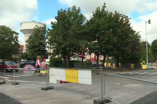 La ville de Béthune est en travaux pour installer son tout nouveau chauffage centrale fonctionnant grâce au grisou.