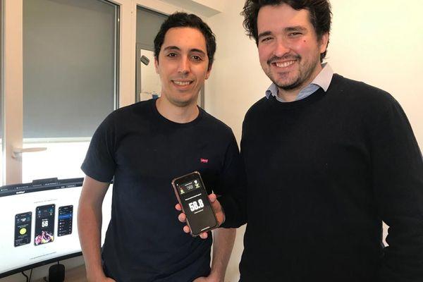 Yanis Rabehi et Simon Pagani, fondateurs de l'application niçoise Youklap.