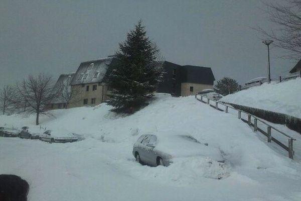 Il est tombé 25 cm de neige cette nuit à Val Louron.